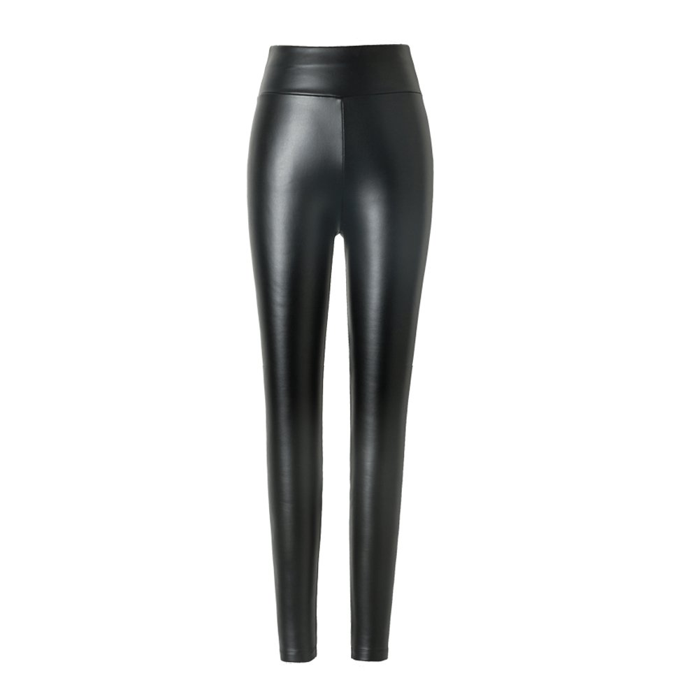 Hitueu Women Leggings Leggings High Waist Leggings Trousers Pantyhose Leggings Synthetic Leggings Leather Look