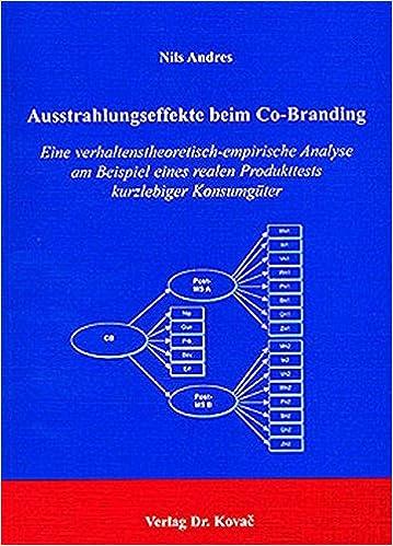 ausstrahlungseffekte beim co branding eine verhaltenstheoretisch empirische analyse am beispiel eines realen produkttests kurzlebiger konsumgter nils - Konsumguter Beispiele