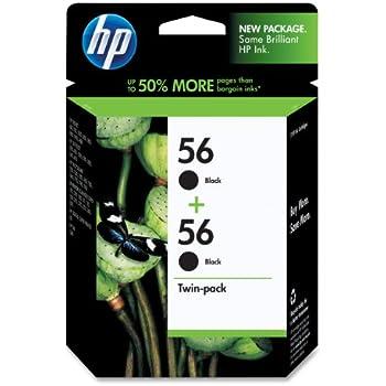 HP 56 Black Original Ink Cartridges, 2 pack (C9319FN) DISCONTINUED BY MANUFACTURER