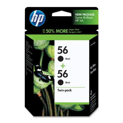 HP 56 Black Original Ink Cartridges, 2 pack (C9319FN)