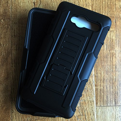 new products 07c60 ec5e8 ZTE Blade L3 Robot Case, Future Armor Premium Belt Clip Holster Kickstand  Rugged Hybrid Protective Cover Case for ZTE Blade L3