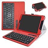 ZenPad Z8s ZT582KL / Z8 ZT582KL-VZ1 Bluetooth Keyboard Case,Mama Mouth Slim Stand PU Leather Cover With Romovable Bluetooth Keyboard For 7.9'' Asus ZenPad Z8s ZT582KL / Z8 ZT582KL-VZ1 Tablet,Red