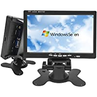 Hikity 7 Inch Monitor Mini PC Display CCTV Security Surveillance Screen HD 1024 600 LCD Monitor with HDMI / VGA / 4.0mm DC Adapter