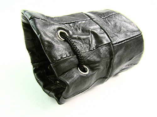 Neu Herren Damen Kordelzug Weich Echtleder Handgelenk-geldbörse Tasche Geldbörse Geldtasche