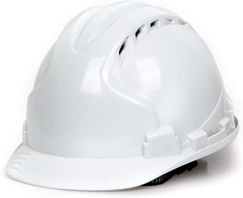 ZBM-ZBM Casco De Seguridad De Construcción Material ABS Ventilación Tapa Transpirable Casco De Trabajo Unisex Casco De Seguridad De Construcción Casco de Seguridad Industrial (Color : White)
