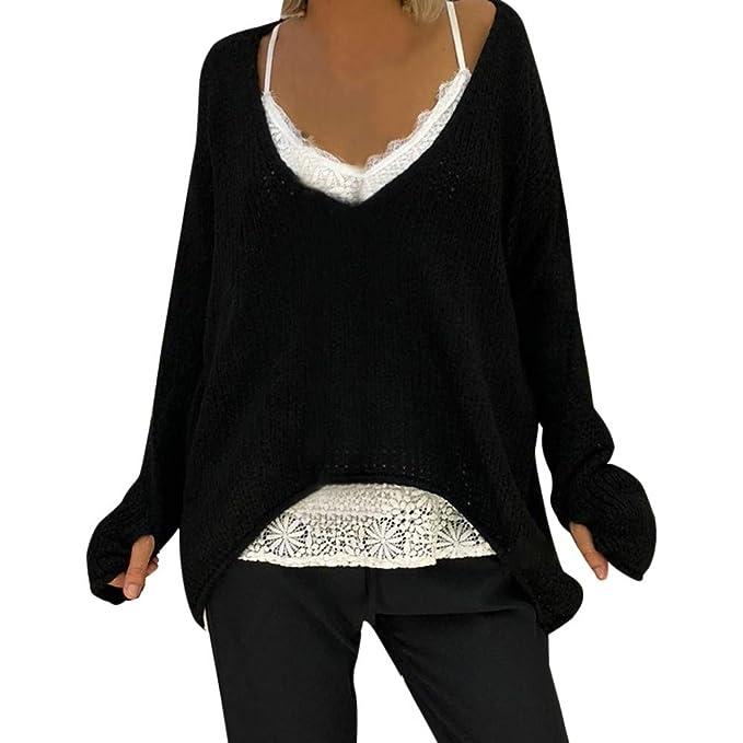 9e2ebae281f7e7 Maglie Donna Invernali ASHOP Moda Donna Autunno Pullover Donna Invernale  Collo Alto Verde/Grigio/Rosa/Bianco/Nero S-XXXXXL: Amazon.it: Abbigliamento