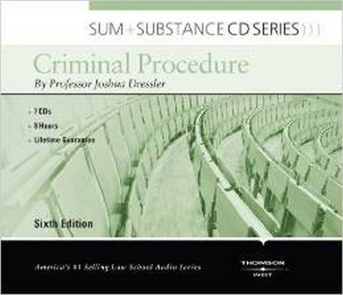 Sum and Substance Audio on Criminal Procedure by West Academic Publishing