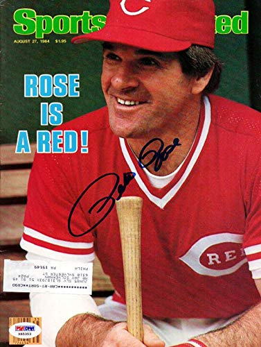Pete Rose Autographed Sports Illustrated Magazine Cincinnati Reds #X65353 PSA/DNA Certified Autographed MLB Magazines