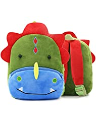 SUNVP Toddler Kids School Bag Baby Child 3D Cute Zoo Plush Animal Cartoon Mini Backpack for Boys and Girls...