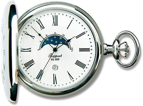【RAPPORT】 ラポート 懐中時計(ポケットウォッチ) ムーンフェイズ ホワイト PW81 【正規輸入品】