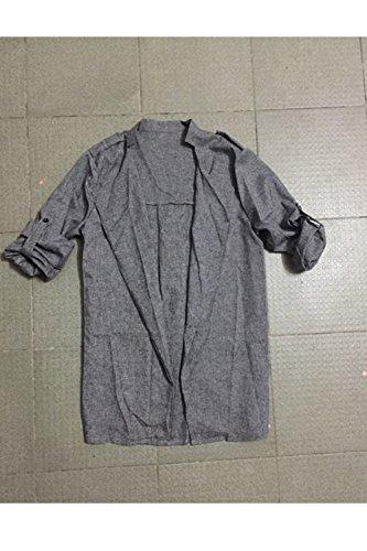 YACUN Blazer Giacca Outwear Donne Aperto Impermeabile Su Grey Fronte IxqPrwIz