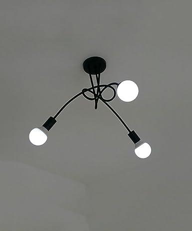 WUFENG plafoniere nordico Postmoderno Iron 3/5 testa lampadario ...