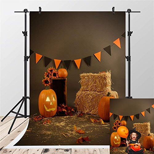 Kate 5x7ft Brown Thanksgiving Photography Backdrops Pumpkin Photo Background for Shooting Haystack Backdrop