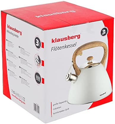 Kettle Klaus Mountain with Whistle KB 7264Whistling Kettle Electric Kettle 3Litres Light Grey