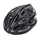 Gonex Adult Bike Helmet, Cycling Road Helmet with Safety Light, Adjustable 58-62cm, 24 Integrated Flow Vents(All Black) For Sale