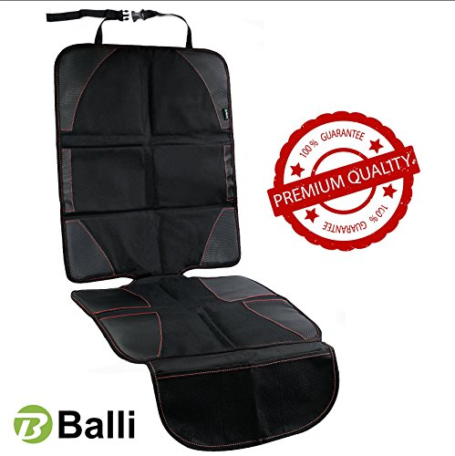 Baby Car Seat Protector with Thickest Padding - Premium Carseat Seat Protectors - Carseat Auto Cover - Seat Protector Under Car Seat - Car Seat Guardian - Leather Car Seat Mat - Booster Seat Protector by Balli (Image #8)