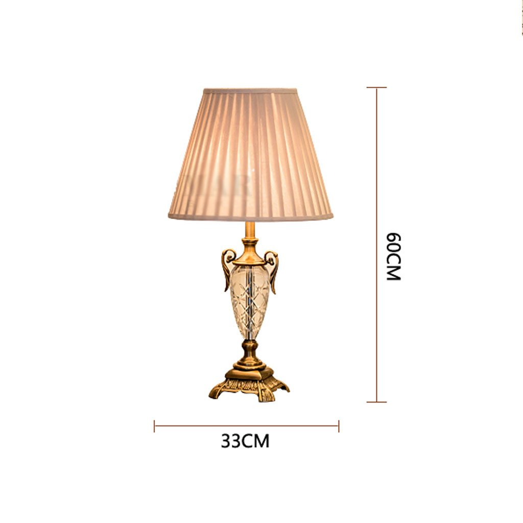 Edge To Table Lamp European Luxury Crystal Table Lamp Simple Living Room Decorative Table Lamp Fashion Bedroom Bedside Lamp by Edge To (Image #7)