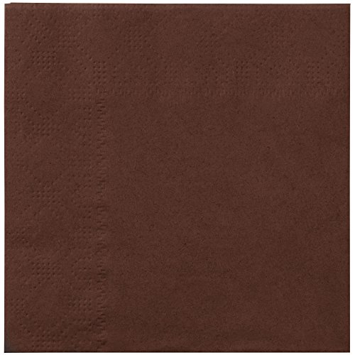 Hoffmaster 180354 Chocolate Brown Beverage / Cocktail Napkin - 1000/Case by Hoffmaster