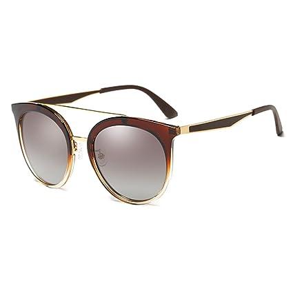 Gafas de Sol Gafas de Sol Mujer Gafas Polarizado Moda Retro Driving Mirror Ms (Color