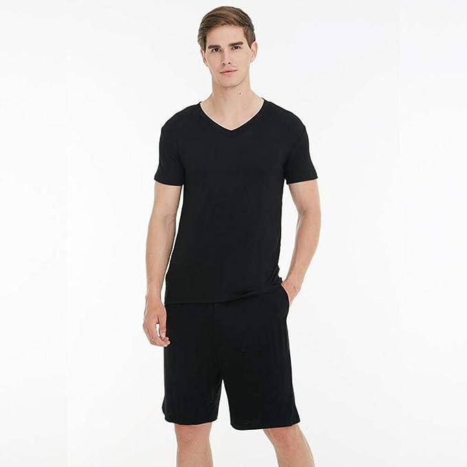 Traje de Pijama Negro de Gran tamaño 3XL 4XL para Hombre 2 ...
