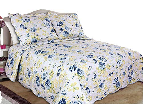 ALL FOR YOU 3pc Reversible Bedspread, Coverlet, Quilt Set-full/queen Size 86