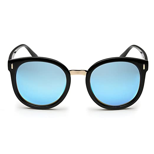 93b190e27ec Rocknight Polarized Horn Rimmed Sunglasses UV Protection Round Hot Fashion  Arrow Sunglasses