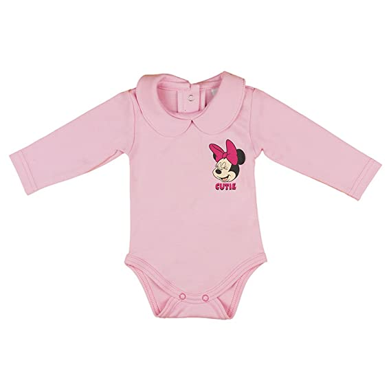 80 Minnie-Mouse Baby-Body,Gr.62 rosa 68