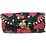 Betsey Johnson Floral Jewelry Roll Pouch Bag Make Up Purse