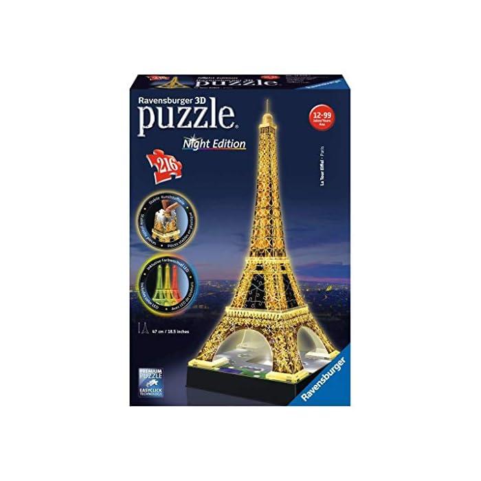 51FG4jlueQL Contiene 216 piezas con la tema de Tour Eiffel Piezas de plástico que se encajan perfectamente sin uso de pegamento Versión 3D