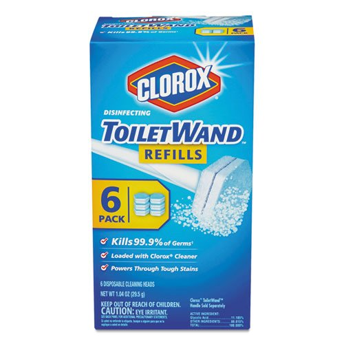 Clorox Disinfecting Toilet Wand Refill Heads 6 ea (Pack of 25) by COX (Image #2)
