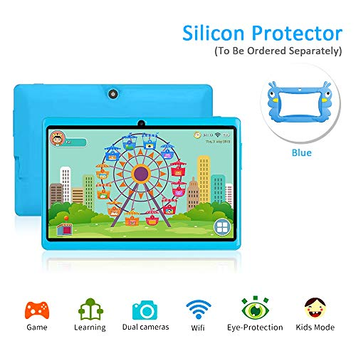 7 Android Kids Tablet PC Childrens Tablet Kids Edition Tablet Quad Core Kids Tablet with WiFi Camera 1GB + 16GB Parental Control (Blue) (Best Tablet Pc For Kids)