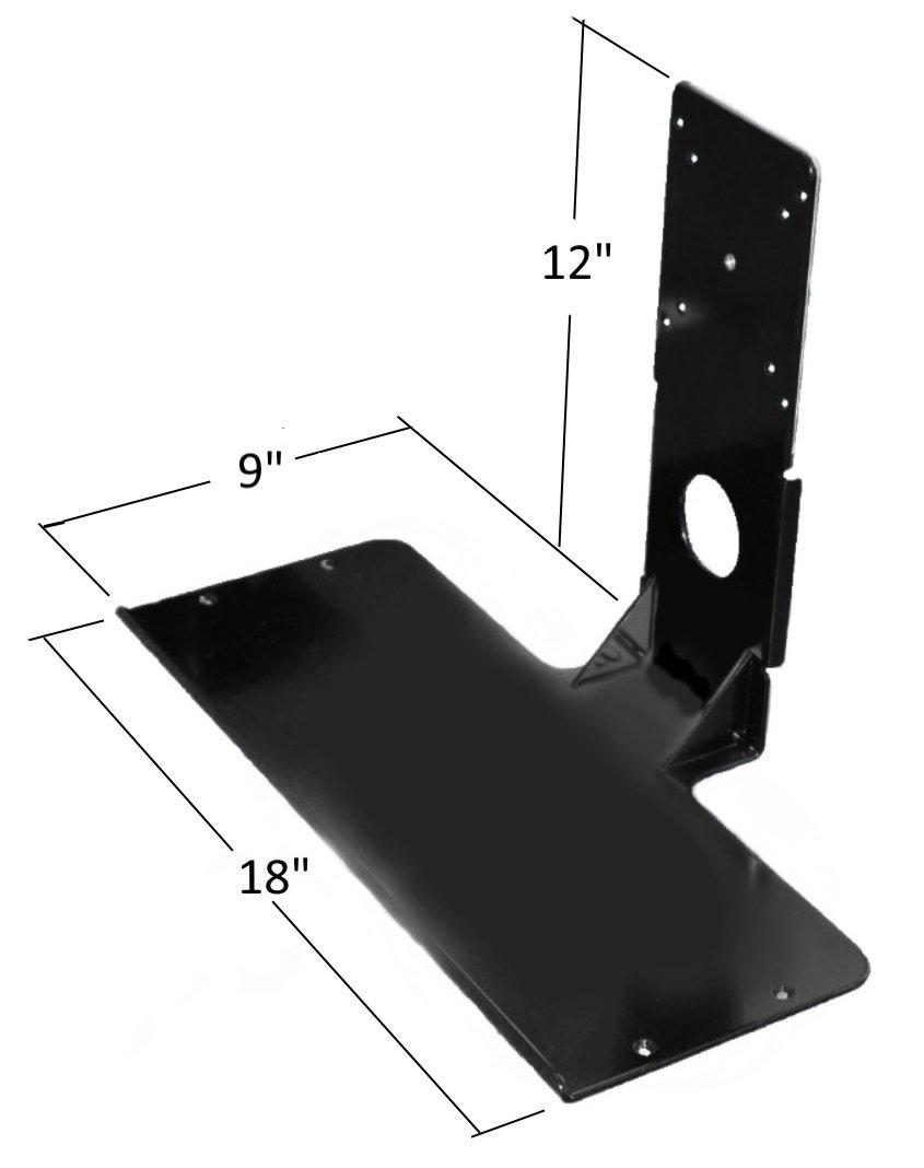 SDS iMount 2.0 Premium Aluminum Mini Keyboard Mounting Shelf, Black, Light Weight, Mounts Using VESA Pattern On Monitors (2.2 LBS) Manufactured in Michigan