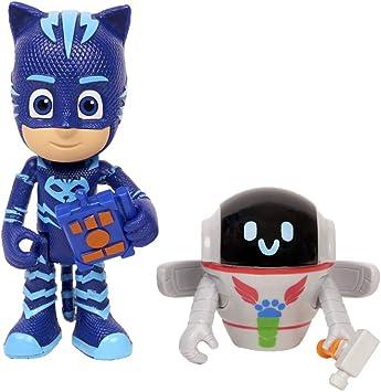 PJ Masks - Pack de 2 figuras Gatuno y PJ Robot (Bandai 95264 ...