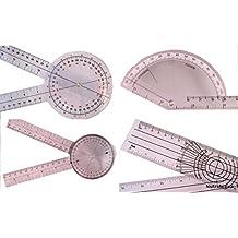 """Goniometer Set of 4: 12"""", 8"""", Finger, Spinal (#501)"""