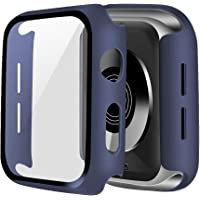 ONMROAD Compatible with Blue Apple Watch Case 44mm Series 6 SE Series 5 Series 4 with Screen Protector, High Sensitive…