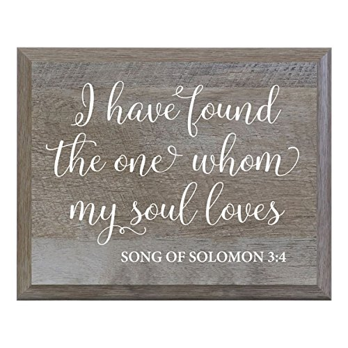 - LifeSong Milestones I Have Found The One Whom My True Soul Loves Decorative Wedding Party signs for Ceremony and Reception for Bride and Groom (8x10)