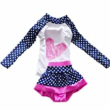 ZYZF Kids Girls Tankini Bikini Swimwear Polka Dots Swimsuit Rash Guard UPF 50+ UV
