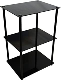 Amazon convenience concepts designs2go midnight classic 3 tier convenience concepts designs2go midnight classic 3 tier glass square endlamp table black aloadofball