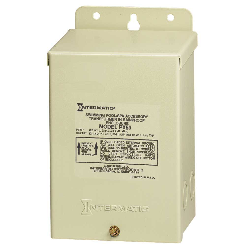 51FG7I7b9xL._SL1000_ amazon com intermatic px300 12v 300w transformer with automatic pool light transformer wiring diagram at webbmarketing.co