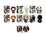 Funko Pop Movies: Lord of the Rings Gandalf, Frodo, Samwise Gamgee, a Nazgul, Saruman, Balrog and TWILIGHT RINGWRAITH! Vinyl Figures Set of 7