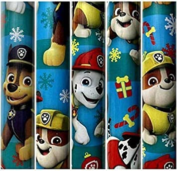 Image Unavailable Not Available For Color Nickelodeon Paw Patrol Light BlueTheme Gift Wrapping Paper