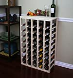 VinoGrotto 40 Bottle Table Wine Rack (Pine) by VinoGrotto - Exclusive 12 inch deep design conceals entire wine bottles. Hand-sanded to perfection!, Pine