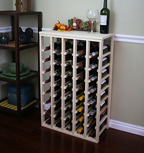 Creekside 40 Bottle Table Wine Rack (Pine) by Creekside - Exclusive 12 inch deep design conceals entire wine bottles. Hand-sanded to perfection!, Pine