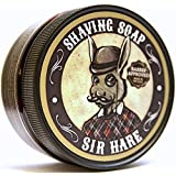 Artisan Shaving Soap By Sir Hare - Provides a Thick Creamy Lather Will Protect Your Skin and Leave You with a Smooth Clean Shave. 100% Satisfaction Guaranteed