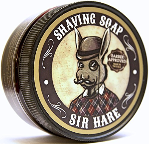 Premium Shaving Soap for Men By Sir Hare - Barbershop Fragrance - Shave Soap That Smells Great and Provides a Smooth - Conk Shave Soap