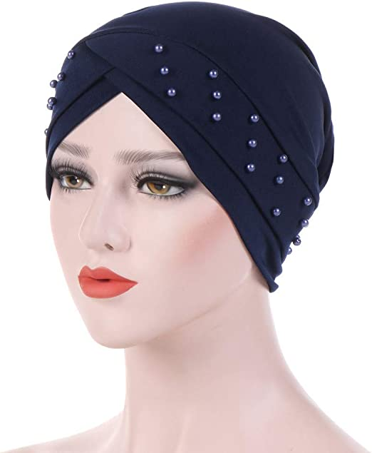 Muslim Female Hats for Women Headscarf Print Turban Chemotherapy Wrap Caps for Ladies Girls Cancer Chemo Hats