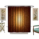 Circo Fish Shower Curtain luvoluxhome Shower Curtains Fabric Tan by African with Floral and GeometricElements Fishes Animal Silhouettes Brown Tan Yellow W54 x L78 Fabric Bathroom Set with Hooks