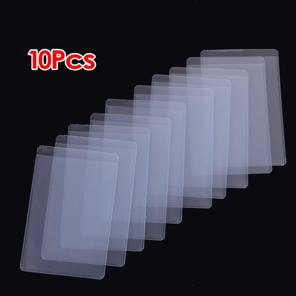 Maniche scheda - SODIAL(R) 10pz morbide bustine di plastica trasparente protezioni, per carte d'identita', carte Band, ecc TOOGOO(R)