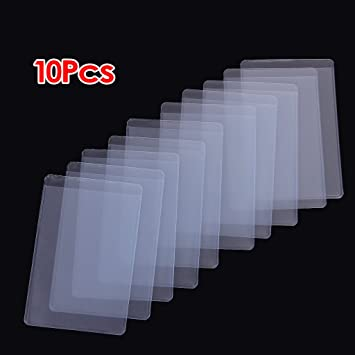 toogoor 10pcs soft clear plastic card sleeves protectors for id cards - Plastic Sleeves For Cards