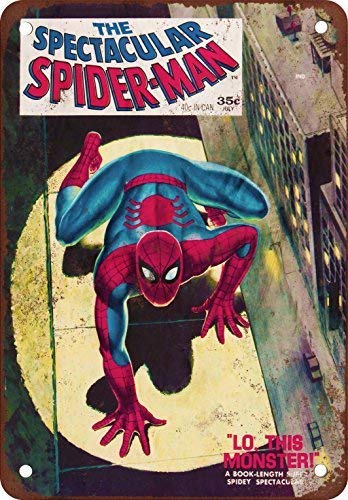 (DOPN The Spectacular Spider-Man #1 Comic Vintage Look Reproduction Metal Tin Sign)